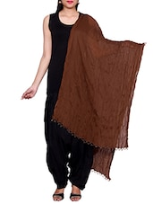 Brown Chiffon Plain Dupatta - By
