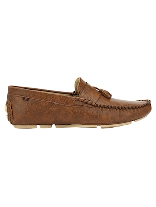 brown Leatherette slip on loafer - 14418098 - Standard Image - 2