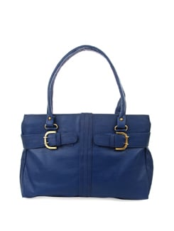 Chic Blue Bag With Antique Trims - ALESSIA