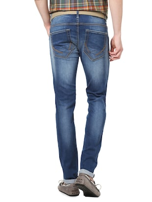 blue cotton plain jeans - 14419391 - Standard Image - 2