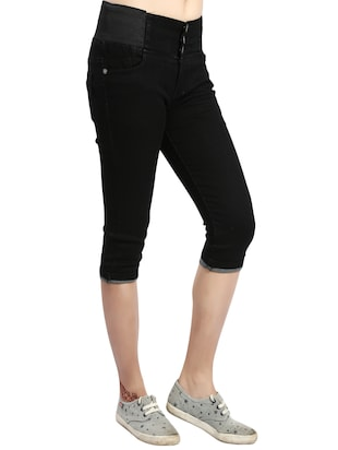 black denim capri - 14419592 - Standard Image - 2