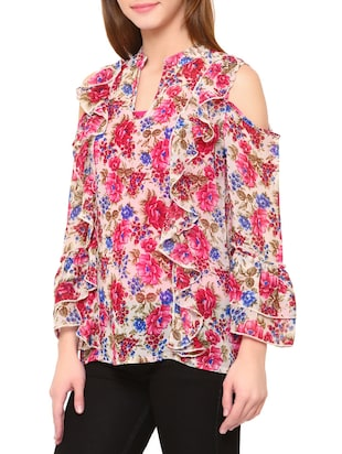 Multi colored floral top - 14419639 - Standard Image - 2