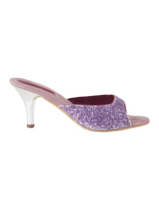 purple sheet slip on sandals - 14422813 - Standard Image - 2