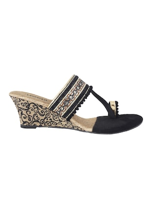 black one toe  wedge - 14422870 - Standard Image - 2
