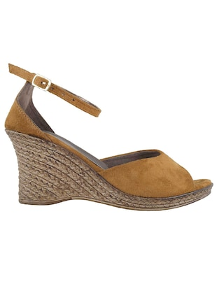 tan ankle strap wedge - 14422998 - Standard Image - 2