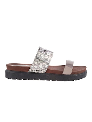 grey tpr flat forms sandals - 14423225 - Standard Image - 2