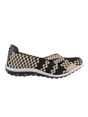 black slip on casual shoe - 14423944 - Standard Image - 2