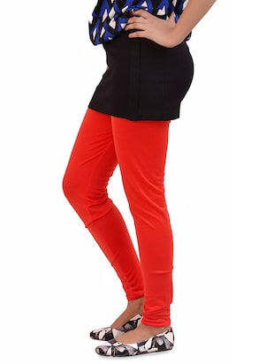 red woolen leggings - 14424587 - Standard Image - 2