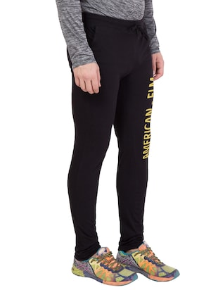 black cotton track pant - 14424788 - Standard Image - 2