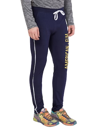 navy blue cotton track pant - 14424802 - Standard Image - 2