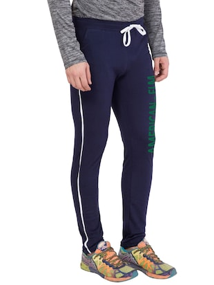 navy blue cotton track pant - 14424807 - Standard Image - 2