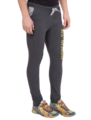 grey cotton track pant - 14424809 - Standard Image - 2