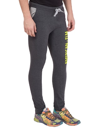 grey cotton track pant - 14424813 - Standard Image - 2