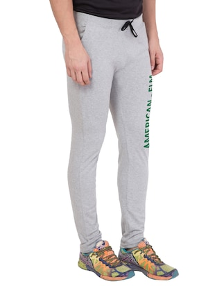 grey cotton track pant - 14424822 - Standard Image - 2
