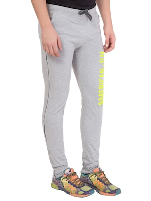 grey cotton track pant - 14424827 - Standard Image - 2