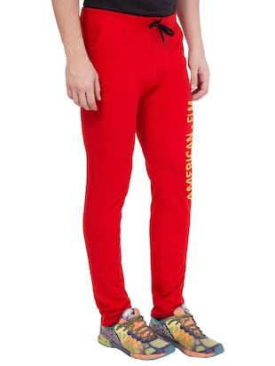 red cotton track pant - 14424831 - Standard Image - 2
