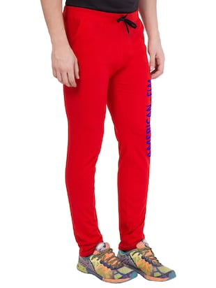 red cotton track pant - 14424832 - Standard Image - 2