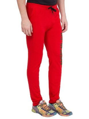 red cotton track pant - 14424837 - Standard Image - 2