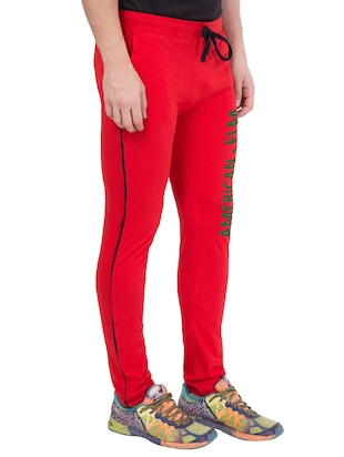 red cotton track pant - 14424845 - Standard Image - 2