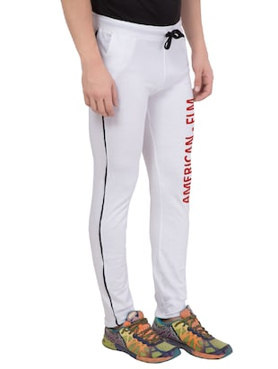 white cotton track pant - 14424848 - Standard Image - 2
