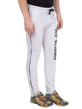 white cotton track pant - 14424851 - Standard Image - 2