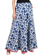 blue cotton maxi skirt -  online shopping for Skirts