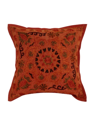 Cotton Single Rajasthani Traditional Cushion Cover By Rajrang - 14425268 - Standard Image - 2