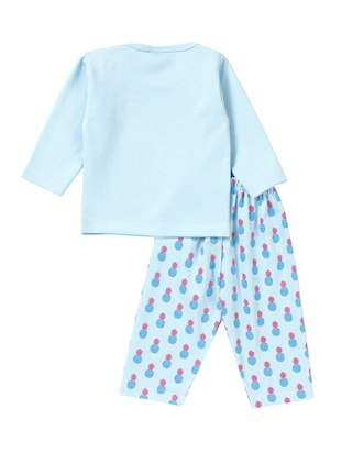 blue cotton nightwear set - 14425982 - Standard Image - 2