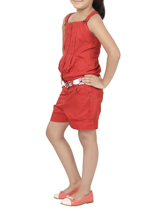 red cotton playsuit - 14426575 - Standard Image - 2