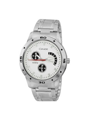 Crude combo of 2 Stainless Steel men's watch-rg741 with white & Black Dial - 14427054 - Standard Image - 2