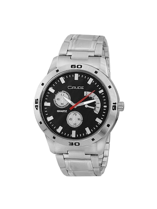Crude combo of 2 Stainless Steel men's watch-rg741 with white & Black Dial - 14427054 - Standard Image - 5