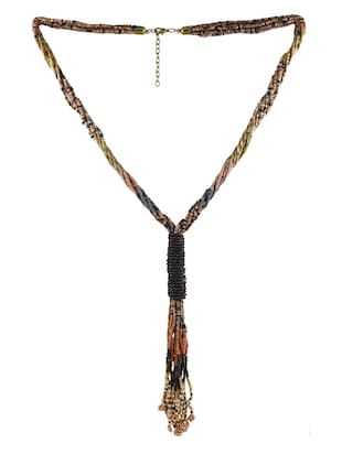multi colored metal long necklace - 14429228 - Standard Image - 2