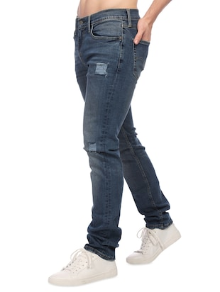 blue denim ripped jeans - 14429450 - Standard Image - 2