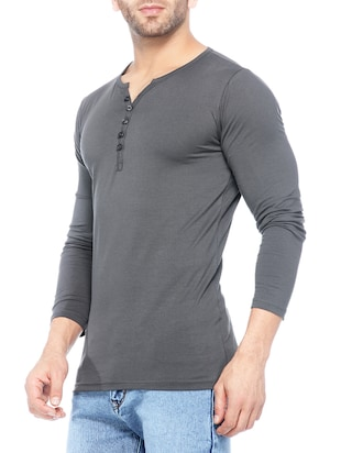 grey cotton t-shirt - 14430714 - Standard Image - 2