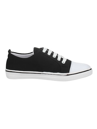 black fabric laceup sneakers - 14432178 - Standard Image - 2