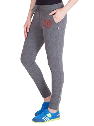 grey cotton track pants - 14432423 - Standard Image - 2