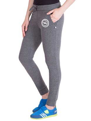 grey cotton track pants - 14432425 - Standard Image - 2