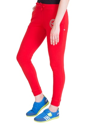 red cotton track pants - 14432449 - Standard Image - 2