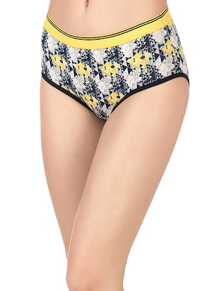 yellow cotton hipster panty - 14432849 - Standard Image - 2
