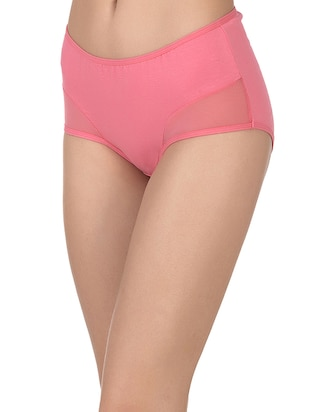 pink cotton hipster panty - 14432853 - Standard Image - 2