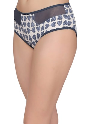 blue cotton hipster panty - 14432889 - Standard Image - 2
