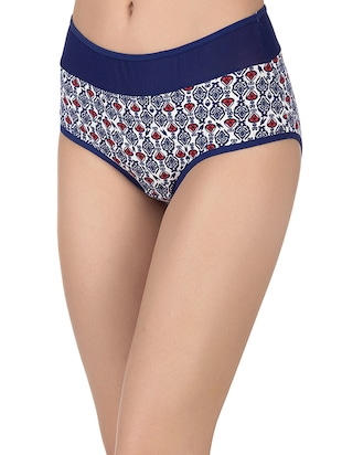 blue cotton hipster panty - 14432894 - Standard Image - 2