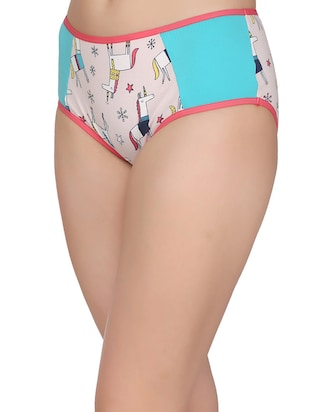blue cotton hipster panty - 14432899 - Standard Image - 2