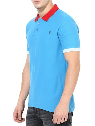 blue cotton t-shirt - 14433274 - Standard Image - 2