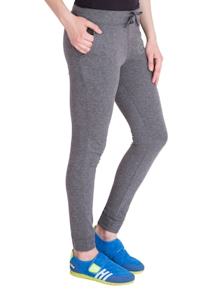 grey cotton track pants - 14436767 - Standard Image - 2