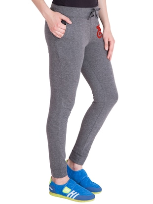 grey cotton track pants - 14436769 - Standard Image - 2
