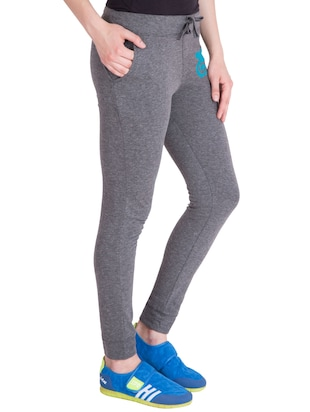 grey cotton track pants - 14436770 - Standard Image - 2