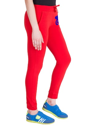 red cotton track pants - 14436784 - Standard Image - 2