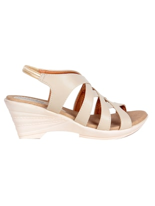 nude faux leather platforms wedges - 14436963 - Standard Image - 2
