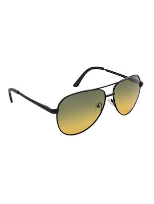 REACT Yellow Gradient Aviator HD Polarized Sunglasses For Men Women - 14438115 - Standard Image - 2